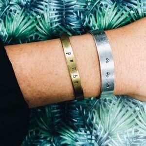Jewelry - Hand stamped bracelets - CUSTOMIZE!